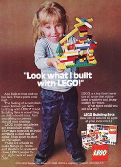 Vintage Lego Advertisement 1970's-- back when legos didn't need to differentiate for boys and girls.