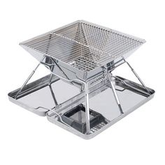 Stainless Steel Portable Folding Charcoal Barbeque Grill
