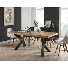 Göteborg Retro Design Table Basse Blanc-Chêne 115 cm dans le style scandinaves NEUF