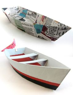 cardboard Boat pattern--so cool!