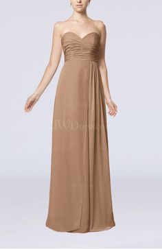 Browse Blush Bridesmaid Dress - Simple Empire Sweetheart Sleeveless Floor Length Long here, purchase your favorite one with discount now! Mint Bridesmaid Dresses, Always A Bridesmaid, Bridesmaids, Bridesmaid Ideas, Strapless Dress Formal, Formal Dresses, Brown Dress, Dream Dress, Dresses For Sale