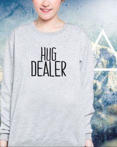 FELPA-HIPSTER-UOMO-DONNA-HUG-DEALER-HAPPINESS-SWAG-HOODIE-MAI-UNA-GIOIA