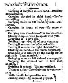 Flirting during the Victorian era was so, so complicated.
