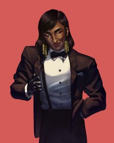 """mainframe-art: """"Pharah killing it in a suit """""""