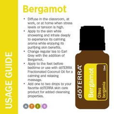 - Want to know all about bergamot essential oil? I've included all there is to know about doTERRA bergamot essential oil uses including DIY & food recipes. Wild Orange Essential Oil, Lemon Essential Oils, Natural Essential Oils, Essential Oil Blends, Doterra Wild Orange, Natural Oils, Doterra Lemon Oil, Doterra Onguard, Doterra Essential Oils