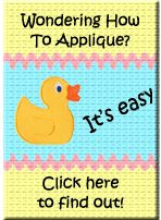 Applique Designs How To for machine applique with an embroidery machine