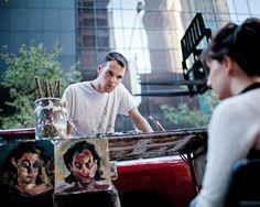 Mark Nilsson, the Starving Artist Outside MoMA's Doors