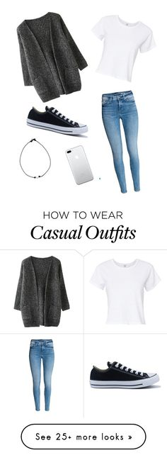 """Casual"" by kinsleyyorj on Polyvore featuring RE/DONE and Converse"