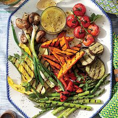 Grilled Summer Vegetable Platter | Start with this mix of vegetables, or simply use what you have on hand. | #Recipes | SouthernLiving.com