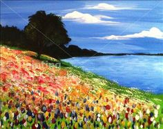 Wildflowers at the Park - SOLD OUT! - Austin North, TX Painting Class - Painting with a Twist