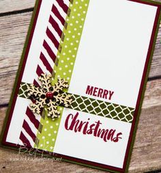 Stampin' Up! UK Feeling Crafty - Bekka Prideaux Stampin' Up! UK Independent Demonstrator: Make in a Moment Monday - Washi Tape Christmas Card