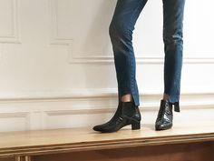 DIY Vetements jeans - denim hem update for Fall | DeSmitten
