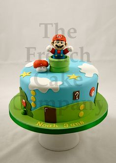 Cake for boys Mario - Gateau D'anniversaire pour Enfants Garcon Mario - Verjaardagstaart
