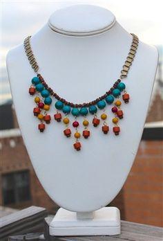 Tribal Colorful Bib Necklace
