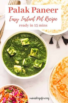Restaurant favorite Palak paneer in 15 minutes using Instant Pot Instant Pot Pressure Cooker. This easy recipe has all my tips for the best palak paneer.  #ministryofcurry #palakpaneer Healthy Indian Recipes, Best Vegetarian Recipes, Paneer Recipes, Curry Recipes, Instant Recipes, Biryani Recipe, Instant Pot Pressure Cooker, Spring Recipes, Easy Chicken Recipes