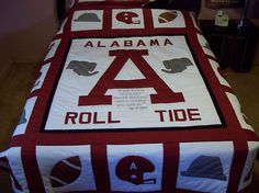 HOME MADE ALABAMA QUEEN SIZE QUILT | eBay