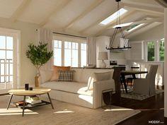 living room midcentury modern