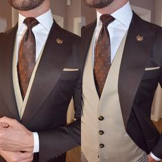 Mens Fashion Smart – The World of Mens Fashion Men's Suits, Cool Suits, Suit Combinations, Designer Suits For Men, Formal Suits, Mens Fashion Suits, Suit And Tie, Well Dressed Men, Gentleman Style