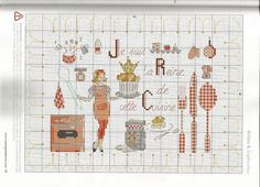 0 point de croix femme reine de la  cuisine - cross stitch queen of the kitchen lady