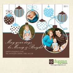 $15 Digital File - Ornament - Holiday Photo Card