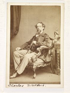 John and Charles Watkins -- Charles Dickens seated; 1861 -- High quality art prints, framed prints, canvases -- Museum of London Prints