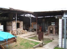 Wood-fired kilns at Strathnairn Arts, Australia