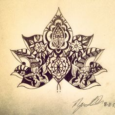 Lotus flower tattoo Tattooed by Javi Wolf Tatto Love, Love Tattoos, Beautiful Tattoos, Body Art Tattoos, New Tattoos, Awesome Tattoos, Zentangle, Tatoo Art, Tattoo You