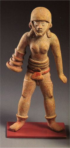Female Ballplayer Figurine  The standing female ballplayer figurine shown above wears a helmet and ballgame glove and mushroom-inspired belt. Sacred mushrooms such as the Amanita muscaria, above on the right, were likely consumed before entering battle and before the ritual ballgame, enhancing one's vision and strength as well as bravery to its wildest levels. The figurine is from the site of Xochipala, Mexico, in the western state of Guerrero, and dates to 1200-900 C.E.