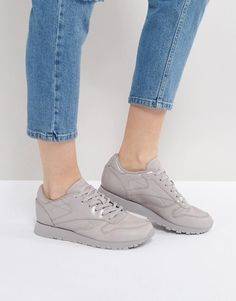 Reebok Classic Pellegrine Leather Sneakers In Gray