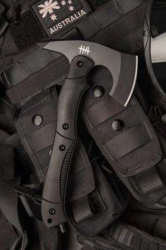Hardcore Hardware Australia CTT-01 Black Tactical Tomahawk Axe Black G-10