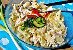 10 olcsó tésztasaláta tejfölös öntettel | nosalty.hu Penne, No Cook Meals, Pasta Salad, Cabbage, Vegetables, Cooking, Ethnic Recipes, Food, Crab Pasta Salad