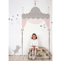 Wall stickers - Juliette Headboard #kidsroom #kids www.ruthgreta.se