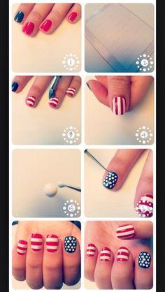 Super Cute Fourth Of July Nail Art (tutorials) #Fashion #Beauty #Trusper #Tip