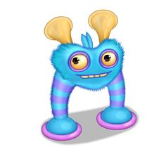 """""""The playful Blabbit shares a common ancestor with the Reedling, and developed an equally eccentric adaptation for breathing - blowing bubbles! As it releases the bubbles, it makes an adorable trilling sound which endears it to the other monsters. This is lucky for the Blabbit, because it also has a reputation for being a bit of a nuisance when it """"borrows"""" monster eggs to hide all over the place."""" The Blabbit resembles a white rabbit-like creature with features that include spiked ears..."""