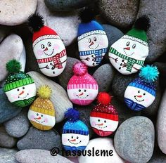 Stone Crafts, Rock Crafts, Diy And Crafts, Crafts For Kids, Arts And Crafts, Pebble Painting, Pebble Art, Stone Painting, Rock Painting Ideas Easy