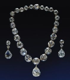 The coronation necklace of Queen Victoria, the only other monarch to celebrate a Diamond Jubilee, will also be on display. Note the impressive history behind this diamond necklace: it was worn by Queen Alexandra, Queen Mary, Queen Elizabeth the Queen Mother and Queen Elizabeth the second at their coronations.