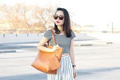 #FashionBlogger @itsnotheritsme in #StripesOnStripes & #BOERA #shieldring!