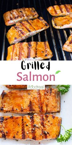 How to grill salmon until it's tender, juicy, and slightly charred! This Grilled Salmon Recipe uses just simple seasonings and no marinating necessary (just the time it takes to heat your grill!), for quick, flaky, flavorful grilled salmon that's perfect for pairing with all your favorite grill recipes! Healthy Low Carb Dinners, Healthy Grilling Recipes, Healthy Salmon Recipes, Low Carb Dinner Recipes, Barbecue Recipes, Clean Eating Recipes, Grill Recipes, Healthy Snacks, Grilled Salmon Seasoning