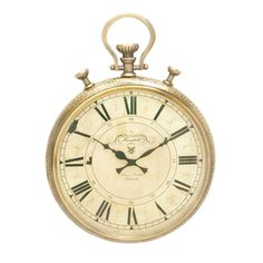 Studio 350 Gold Aluminum Wall Clock (Gold)