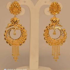 Gold Earrings For Women, Gold Earrings Designs, Gold Jhumka Earrings, Gold Mangalsutra Designs, Gold Bridal Earrings, Gold Bangles Design, Gold Jewellery Design, Women's Earrings, Gold Necklace