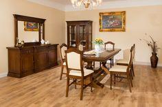 Mobilier Mobila Sufragerie clasica din lemn DOMINUS - aranjament 1 Dining Table, Furniture, Home Decor, Decoration Home, Room Decor, Dinner Table, Home Furnishings, Dining Room Table, Home Interior Design
