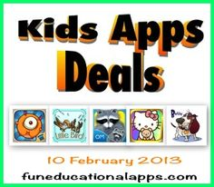 5 Free apps today for your 5-A-Day with some Valentine related ones! - A very cute game app, 2 touching storybook apps, a coloring app for Hello Kitty's fans and a cool chapter book app for kids 7 to 12!