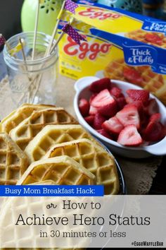 Rushing around in the kitchen is never fun. Put together an easy waffle bar in 30 minutes or less, and you'll actually have time to sit and enjoy it. #EggoWaffleBar #ad @Walmart