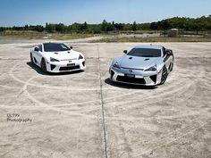 Double the perfection.    Join www.RacerTimes.com - #SexOnWheels #RacerTimes #Cars #Lexus #LFA #TheRacer