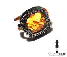 Anello Rebecca Gioielli collezione Manhattan con pietra naturale. #rings #sciccherie #rebeccajewels