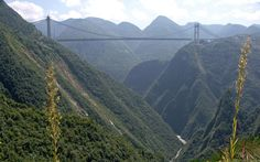 Baluarte Bridge-  Durango, Mexico.   What an opportunity to marvel at the sight of the Sierra Madre Occidental !
