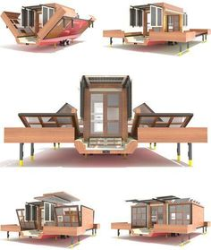 Expandable fold out camper with Solar panels