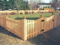 4 Ft Cedar Scalloped Picket Wooden Fence Fence Slats
