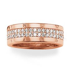 Thomas Sabo Glam and Soul Rose Gold Cubic Zirconia Ring