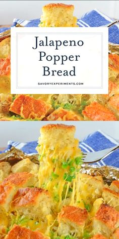 Jalapeno Popper Pull Apart Bread is spicy, cheesy and perfect for any dining occasion. Use it as an appetizer, side dish or a snack! Naan, Jalapeno Cheese Bread, Bread Dishes, Jalapeno Recipes, Pull Apart Bread, Food Videos, Cooking Videos, Healthy Recipe Videos, Catering Food